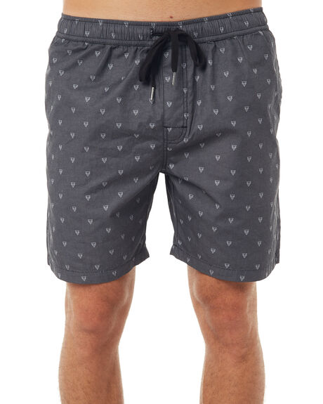BLACK MENS CLOTHING SWELL BOARDSHORTS - S5171239BLK