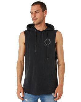 WASHED BLACK MENS CLOTHING SILENT THEORY SINGLETS - 4043021WBLK