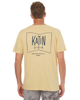 YELLOW MENS CLOTHING KATIN TEES - TSGRUH17YLW
