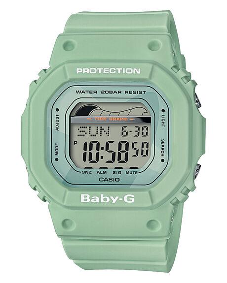 PASTEL GREEN WOMENS ACCESSORIES BABY G WATCHES - BLX560-3DPGRN