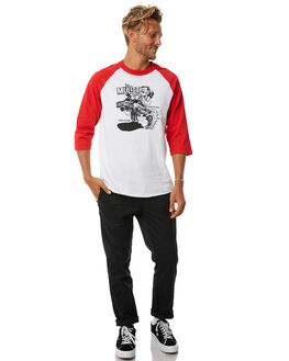 WHITE RED MENS CLOTHING BRIXTON TEES - 02469WHRED