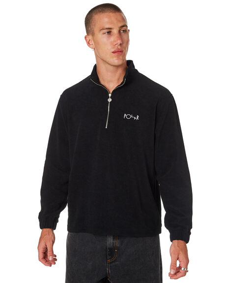 BLACK MENS CLOTHING POLAR SKATE CO. JUMPERS - PSC-TERZIPBLK