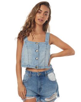 GRAVEL BLUE WOMENS CLOTHING BILLABONG FASHION TOPS - 6571094GBLU