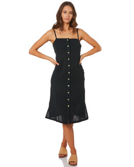 WASHED BLACK WOMENS CLOTHING SWELL DRESSES - S8201453WSHBK