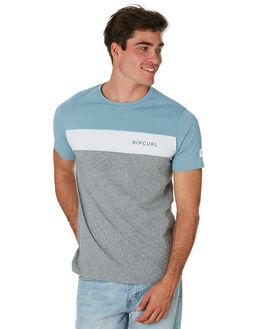 BLUE GREY MENS CLOTHING RIP CURL TEES - CTESG21005