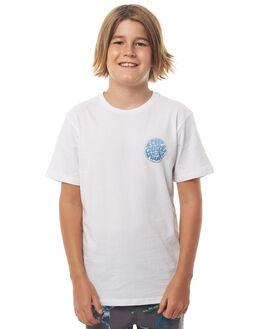WHITE KIDS BOYS RIP CURL TEES - KTEIE21000