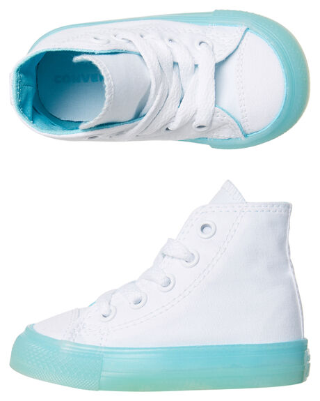 Converse Tots Chuck Taylor All Star Hi Shoe White Bleached