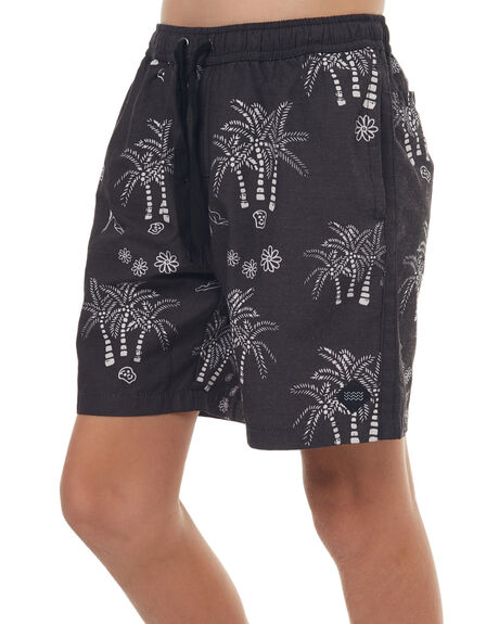 BLACK KIDS BOYS SWELL BOARDSHORTS - S3171234BLK