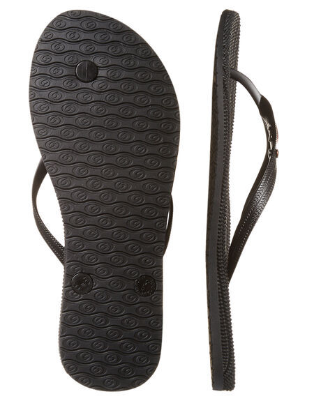 BLACK WOMENS FOOTWEAR RIP CURL THONGS - TGTCD90090