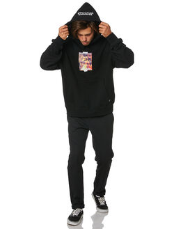 BLACK MENS CLOTHING THRILLS JUMPERS - TSI5-210BBLK