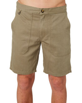 BURNT OLIVE MENS CLOTHING AFENDS SHORTS - M184304BOLI