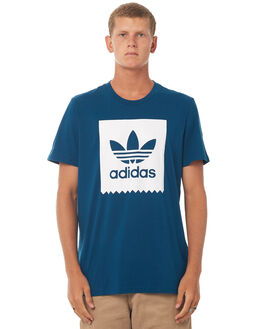 BLUE MENS CLOTHING ADIDAS ORIGINALS TEES - BR5010BLU