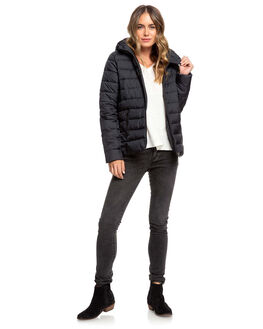 TRUE BLACK WOMENS CLOTHING ROXY JACKETS - ERJJK03361-KVJ0