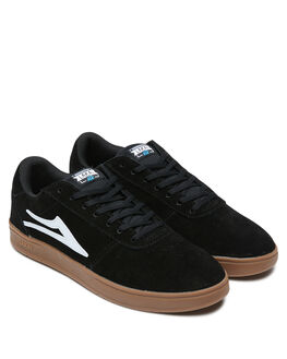 BLACK GUM SUEDE MENS FOOTWEAR LAKAI SNEAKERS - MS1200200B00-BLKGS
