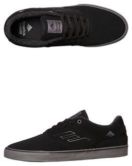 BLACK GREY MENS FOOTWEAR EMERICA SKATE SHOES - 6102000096-570