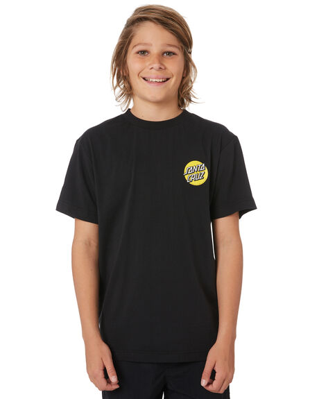 BLACK KIDS BOYS SANTA CRUZ TOPS - SC-YTD9264BLK