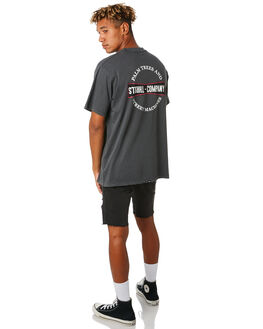 MERCH BLACK MENS CLOTHING THRILLS TEES - TH9-115MBMCBLK