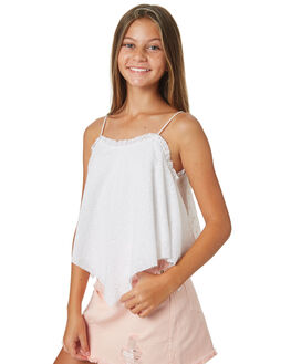 WHITE KIDS GIRLS EVES SISTER TOPS - 9520025WHT