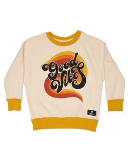 CREAM MUSTARD KIDS GIRLS ROCK YOUR KID JUMPERS + JACKETS - TGH1912-GVCRM