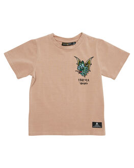 TAUPE KIDS TODDLER BOYS ROCK YOUR BABY TEES - TBT1827-BTAUPE