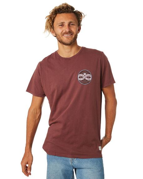DEEP RED MENS CLOTHING KATIN TEES - TSINF01DRED
