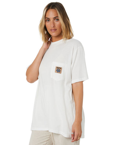WASHED WHITE WOMENS CLOTHING MISFIT TEES - MT105002WWHT