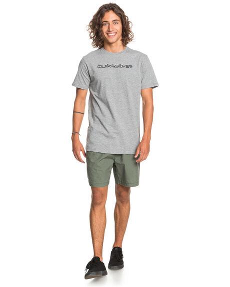 MEDIUM GREY HEATHER MENS CLOTHING QUIKSILVER TEES - EQYZT06212-KPVH