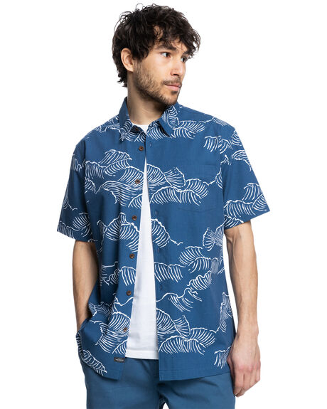 ENSIGN BLUE OCEAN SI MENS CLOTHING QUIKSILVER SHIRTS - EQMWT03420-BRD6