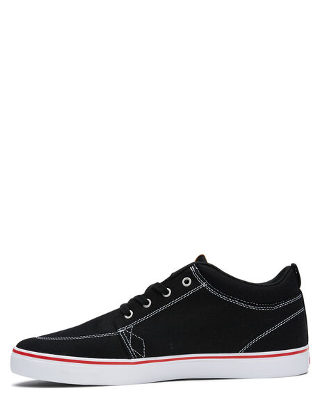 BLACK WHITE CANVAS MENS FOOTWEAR GLOBE SKATE SHOES - GBGSCHUKKABLKWH