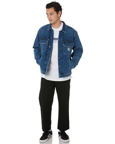 BLUE MENS CLOTHING CARHARTT JACKETS - I02797701