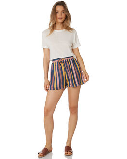 MULTI STRIPE WOMENS CLOTHING THE BARE ROAD SHORTS - 990541-02MUL