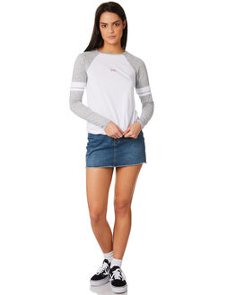 BRIGHT WHITE WOMENS CLOTHING ELEMENT TEES - 283053WHT