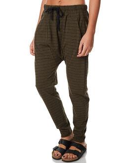 KHAKI MARLE STRIPE WOMENS CLOTHING BETTY BASICS PANTS - BB284W17KHST
