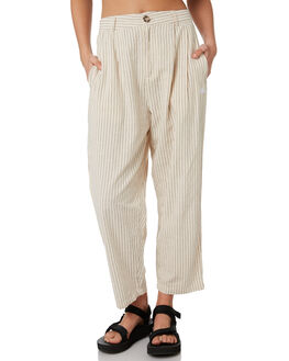 SAND STRIPE WOMENS CLOTHING STUSSY PANTS - ST193617SNDST