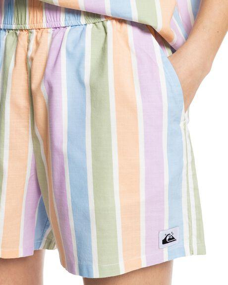 SHERBET STRIPE PEACH WOMENS CLOTHING QUIKSILVER SHORTS - EQWNS03045-NFV3