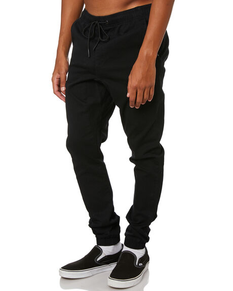 BLACK MENS CLOTHING RUSTY PANTS - PAM0690BLK
