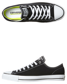 BLACK WHITE MENS FOOTWEAR CONVERSE SKATE SHOES - 144578BLK