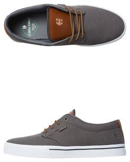 GREY BROWN MENS FOOTWEAR ETNIES SKATE SHOES - 4101000323-089