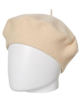 CREAM OUTLET WOMENS LACK OF COLOR HEADWEAR - BERETCREAM1CRM