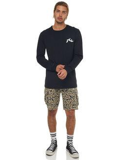 BLACK MENS CLOTHING RUSTY TEES - TTM1880BLK
