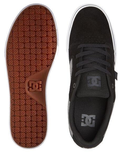 DK GREY BLACK WHITE MENS FOOTWEAR DC SHOES SNEAKERS - 303190-GBW