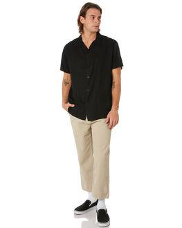 BLACK MENS CLOTHING MISFIT SHIRTS - MT091402BLACK