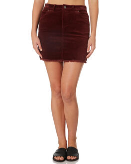 MAROON WOMENS CLOTHING RIP CURL SKIRTS - GSKDO14370