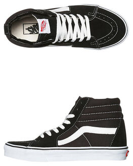 BLACK MENS FOOTWEAR VANS SNEAKERS - SSVN-0D5IB8CM