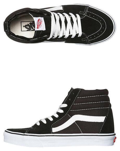 6138a891906 Vans Mens Sk8 Hi Shoe - Black