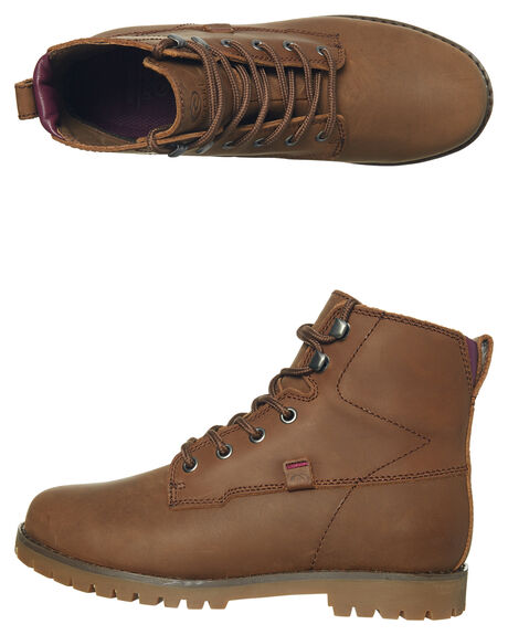 BROWN WOMENS FOOTWEAR RIP CURL BOOTS - TGLAK10009