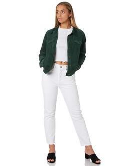 BOTTLE GREEN WOMENS CLOTHING THE HIDDEN WAY JACKETS - H8182382BOTTL