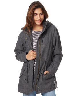CHARCOAL WOMENS CLOTHING ELEMENT JACKETS - 276462CHAR