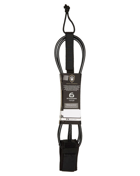 BLACK WHITE BOARDSPORTS SURF FK SURF LEASHES - 1286BLKWH