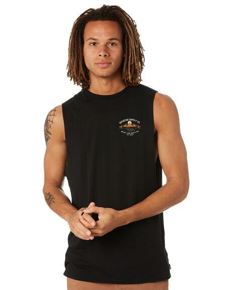 BLACK MENS CLOTHING DEPACTUS SINGLETS - D5222271BLK
